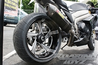 09-13 GSXR 1000 240 Single Sided Swingarm Kit Billet CNC Machined Black Anodized or Chrome Plated 2009 2010 2011 2012 2013 Suzuki Custom Extended Stretched Swing Arm One Wide Tire Fat Wheel Performance Machine Rims Wheels GSX-R 1K