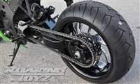 240 Single Sided Swingarm Conversion Kit 11-16 ZX10R Kawasaki Wide Tire Exetnded Custom ZX10 Zx-10 Ninja 2011 2012 2013 Billet Chrome Black Anodized Swing Arm Fat Tire CNC 11 12 13