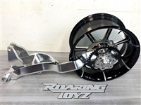 Honda CBR 1000RR 240 Single Sided Swingarm Kit 2008 2009 2010 2011 2012 2013 CBR1000 CBR RR Fireblack Fat Wide Tire Conversion Billet Chrome Black Anodized Custom