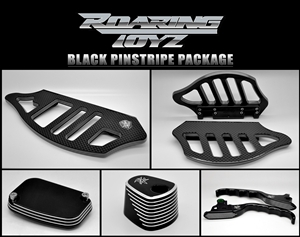Billet CustomPin Stripe Series Package Kit for Harley Davidson Streetglide Roadglide RoadKing UltraClassic Electraglide FL Trike Road King Street Glide Ultra Electra Classic FLH FLHX FLTR FLHT 2009 2010 2011 2012 2013 Black Anodized Touring Bag