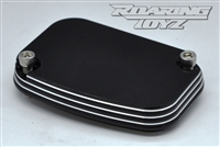 Brake Reservoir Cap Cover Billet Custom for Harley Davidson Streetglide Roadglide RoadKing UltraClassic Electraglide Trike Road King Street Glide Ultra Electra Classic FLH FLHX FLTR FLHT 2009 2010 2011 2012 2013 Black Anodized Pin Stripe Series Touring