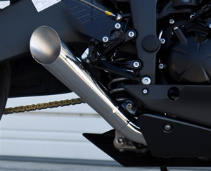 2009 ZX-6R Polished Stainless Megaphone Exhaust Slip On
