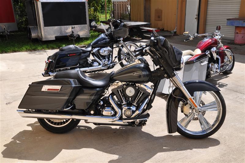 Raked Bolt On Triple Clamp Tree Set Billet CNC neck kit for 23 Inch Front Wheel Harley Davidson ...