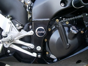 ZX 6/636/10 Chrome Plated Billet Swingarm Bolt Cover Cap Kit