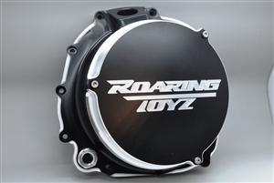 ZX14 ZX14R Ninja Billet Quick Access Engine Clutch Cover Racing Dragrace Performance Custom Black Anodized Contrast Cut 2006 2007 2008 2009 2010 2011 2012 2013 2014 2015 Kawasaki