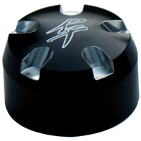 Fork Cap Set 30MM Black Anodized with RT Logo