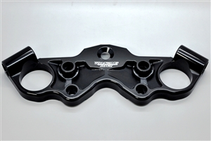 99-16 Hayabusa Racing Race Black Anodized Lowering Top Triple Clamp W/ Contrast Cut Pockets 1999 2000 2001 2002 2003 2004 2005 2006 2007 l2016 owered lower triple tree busa race weight light performance 2008 2009 2010 2011 2012 2013 2014 2015