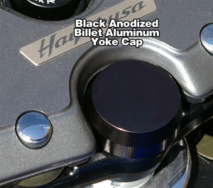 Chrome Steering Stem Nut Cap Cover