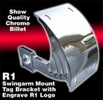 Chrome Plated Axle Mount License Plate Bracket 2004-2006 R1 Fitment