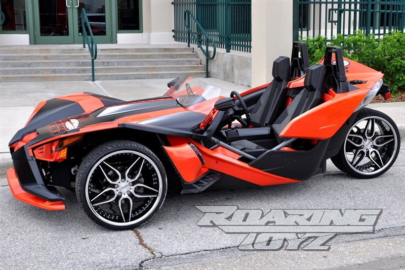 Hand Controls For Cars >> Custom Wheels for Polaris Slingshot 22 Inch Front 22 Inch Rear Wide Fat Wheel tire 305 Rear ...