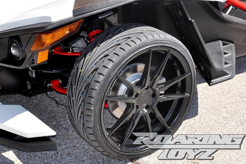 custom wheels for polaris slingshot 20 inch front 22 inch rear wide fat wheel tire 345 rear. Black Bedroom Furniture Sets. Home Design Ideas