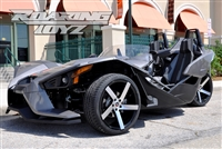 Custom Polaris Slingshot Performance Wheel Tire Package 20 Inch Wheels Style 9 Race Compound Tires Wide 315 Fat Rear Tire Toyo 888 Ultimate traction base sl model 2015 SS Forged Black Machined 20x10.5 rear 20x9 front 20""