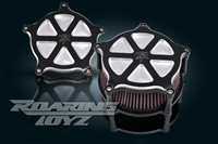 Kawasaki Vulcan Vaquero 1700 Roaring Toyz Black Straight Six Custom Air Cleaner Kit 2011 2012 2013 2010 2009 Voyager Classic Nomad LT ABS Intake Filter Performace Custom Billet 2014 2015 2016