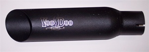 01-04 GSXR 1000 VooDoo Black Slip-On Exhaust