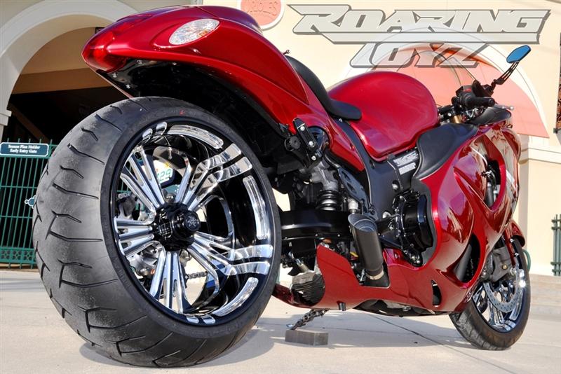 Suzuki GSXR and Hayabusa Billet Single Sided Swingarm 240 Wide Tire Conversion Kit Big Fat Wheel ...