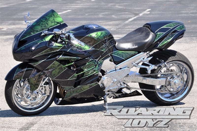 Roaring Toyz Billet 330 Single Sided Swingarm Wide Tire Custom