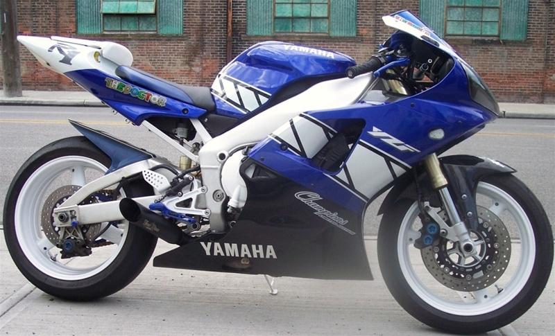 98 03 Yamaha R1 Voodoo Polished Slip On Exhaust
